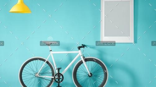demo-attachment-11-white-bike-in-blue-interior-PMNFYVU